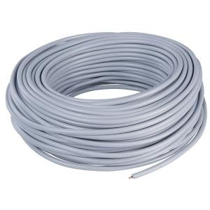 Câble électrique domestique souple - H05 VV-F gris - 3G0,75 mm² - Couronne de 50 m - Lynelec