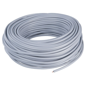 Câble électrique domestique souple - H05 VV-F blanc - 3G0,75 mm² - Couronne de 50 m - Lynelec