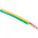 Fil rigide domestique H07-VR vert / jaune - 16 mm² - Couronne de 100 m - Sermes