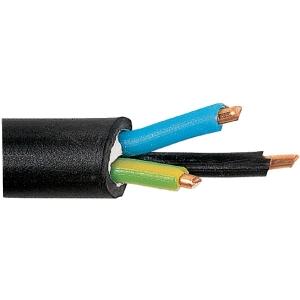 Câble rigide industriel U1000 R2V noir - 3G2,5 mm² - Touret de 500 m - Lynelec