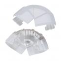 Angle extérieur variable - Pour goulottes 35 x 80 / 105 mm - Couvercle 65 et 85 mm - DLP monobloc - Legrand