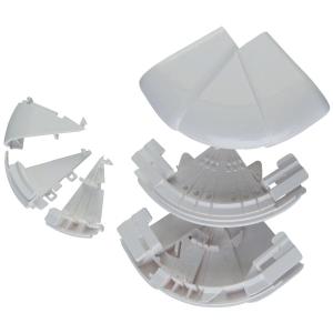 Angle extérieur variable - Pour goulottes 50 x 150 / 195 mm - Couvercle 65 et 85 mm - DLP monobloc - Legrand