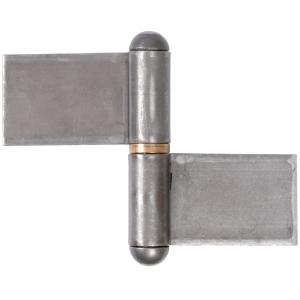 Paumelle de grille forte droite - 125 x 160 mm - Lames renvoyée - Monin