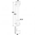 Barre d'appui droite blanche - 665 mm - Ø 25 mm - Godonnier