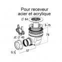 Bonde siphoïde - Receveur acier / acryliquye Ø 60 mm - Nicoll