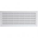 Grille d'aération blanche - 132 x 338 mm - Avec moustiquaire - Girpi