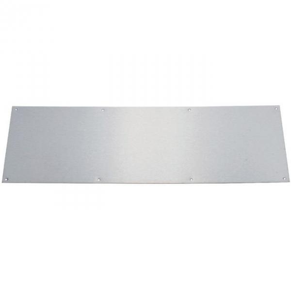 Plaque de propreté inox brillant - Rectangulaire - 830 x 250 mm - Adhésive - Duval