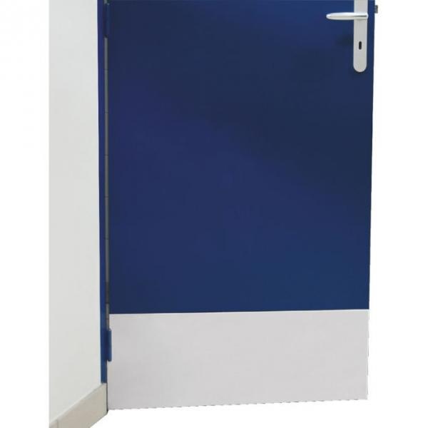 Plaque de propreté inox brillant - Rectangulaire - 930 x 250 mm - Adhésive - Duval
