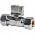 Robinet d'arrêt réduit bicone à manette - Ø 10 mm - Ø 14 mm - Arco
