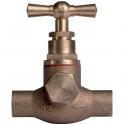 Robinet d'arrêt tête à potence avec purge - Ø 22 mm - À souder - Watts industries