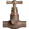 Robinet d'arrêt tête à potence avec purge - Ø 18 mm - À souder - Watts industries