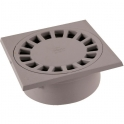 Siphon de sol PVC gris clair - 200 x 200 mm - Nicoll