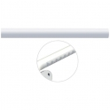Tube droit blanc - 660 mm - Ø 33 mm - Ergosoft - Pellet ASC