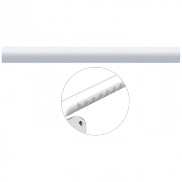 Tube droit blanc - 860 mm - Ø 33 mm - Ergosoft - Pellet ASC