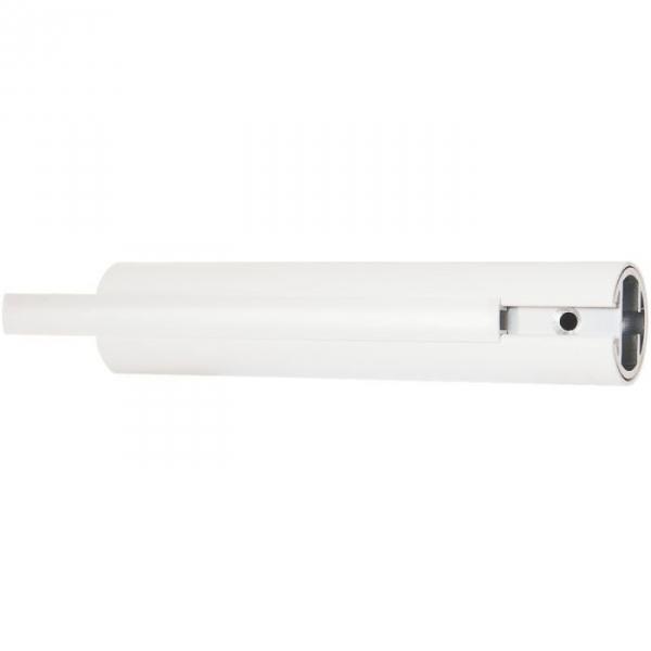 Tube droit blanc - 860 mm - Ø 33 mm - Système polyalu - Pellet ASC