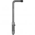 Verrou acier à souder à pêne long - 500 mm - Bourg Industries