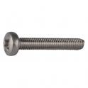 Vis métaux tête cylindrique bombé PZ2 - Ø 5 mm - 60 mm - Inox - Boîte de 100 pièces - Viswood