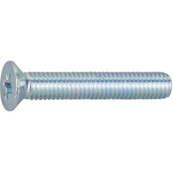 Vis métaux tête fraisé PZ3 - Ø 6 mm - 40 mm - Zingué blanc - Boîte de 200 pièces - Vissal