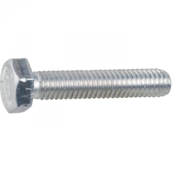 Vis métaux tête hexagonal - Ø 10 mm - 40 mm - Zingué blanc - Boîte de 100 pièces - Vissal