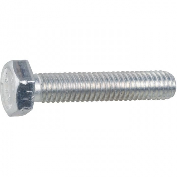 Vis métaux tête hexagonal - Ø 6 mm - 40 mm - Zingué blanc - Boîte de 100 pièces - Vissal