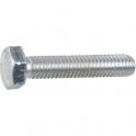 Vis métaux tête hexagonal - Ø 6 mm - 30 mm - Zingué blanc - Boîte de 100 pièces - Vissal