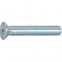 Vis métaux tête fraisé PZ3 - Ø 6 mm - 50 mm - Zingué blanc - Boîte de 200 pièces - Vissal