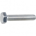Vis métaux tête hexagonal - Ø 8 mm - 50 mm - Zingué blanc - Boîte de 100 pièces - Vissal