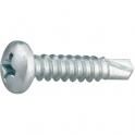 Vis tôle tête cylindrique bombé PH2 - Ø 3,9 mm - 25 mm - Zingué blanc - Boîte de 500 pièces - Viswood