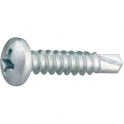 Vis tôle tête cylindrique bombé PH2 - Ø 4,2 mm - 16 mm - Zingué blanc - Boîte de 500 pièces - Viswood