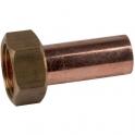 Douille cuivre droite avec écrou à souder - F 1/2' - Ø 14 mm - Hecapo