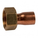 Douille cuivre réduite avec écrou à souder - F 1' - Ø 22 mm - Hecapo