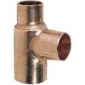 Raccord cuivre en T réduit à souder - Femelle - Ø 14 - 10 - 14 mm - Frabo