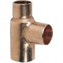 Raccord cuivre en T réduit à souder - Femelle - Ø 18 - 14 - 12 mm - Frabo