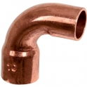 Raccord cuivre coudé 90° à souder - Mâle / femelle grand rayon - Ø 35 mm - Frabo