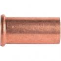 """Douille cuivre droit - Pour écrou F 3/4"""" - Ø 18 mm - Hecapo"""