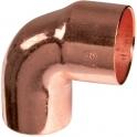 Raccord cuivre coudé 90° à souder - Mâle / femelle petit rayon - Ø 12 mm - Frabo