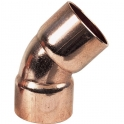 Raccord cuivre coudé 45° à souder - Femelle - Ø 22 mm - Frabo