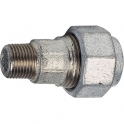 "Raccord fonte galva droit à serrage - M 1""1/2 à serrage - Femelle Ø 50 mm - Virfollet & cie"