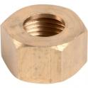 Écrou laiton hexagonal à visser - F 1/2' - Ø 16 mm - Série forte - Bonnel Décolletage