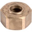 """Écrou laiton hexagonal à visser - F 1""""1/2 - Ø 40 mm - Riquier"""