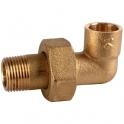 Raccord union laiton coudé 90° à souder - M 3/4' - Ø 16 mm - 98GCU - Thermador