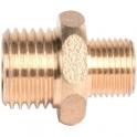 """Raccord laiton hexagonal réduit à visser - M 1/2"""" à visser - M 5/8"""" - Riquier"""