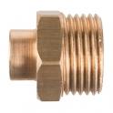"""Raccord laiton droit à souder - M 1/4"""" - Ø 10 mm - Riquier"""