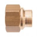 Raccord laiton droit à souder - F 3/4' - Ø 16 mm - Sobime