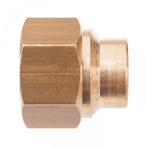 """Raccord laiton droit à souder - F 1""""1/2 - Ø 32 mm - Riquier"""