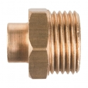 Raccord laiton droit à souder - M 3/8' - Ø 16 mm - Riquier
