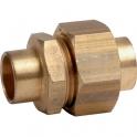 Raccord union laiton droit à souder - Femelle - Ø 16 mm - Sobime