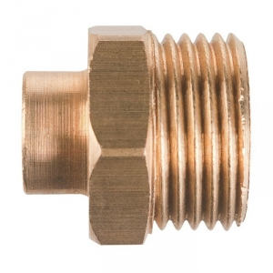 """Raccord laiton droit à souder - M 1""""1/2 - Ø 40 mm - Riquier"""