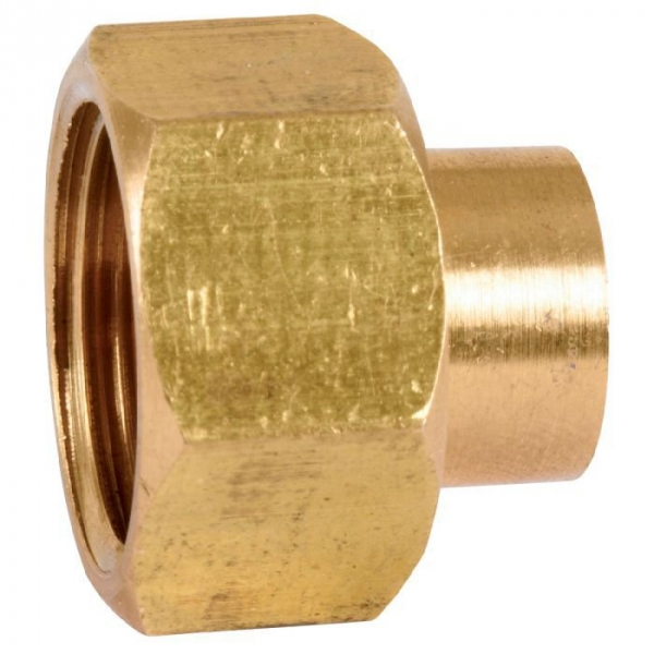 Raccord laiton droit 2 pièces à souder - F 1' - Ø 22 mm - 359GC - Thermador