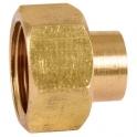 """Raccord laiton droit 2 pièces à souder - F 1/2"""" - Ø 10 mm - 359GC - Thermador"""